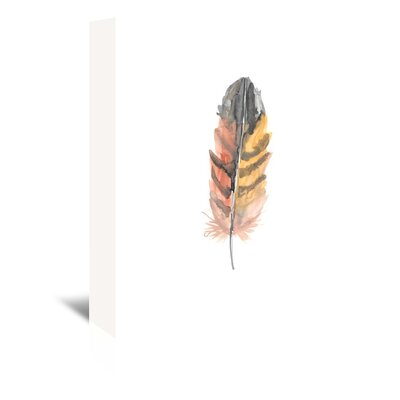 Americanflat 'Feather 3' by Jetty Printables Graphic Art Wrapped on Canvas