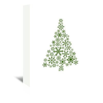 Americanflat 'Snowflake Tree' by Jetty Printables Graphic Art Wrapped on Canvas