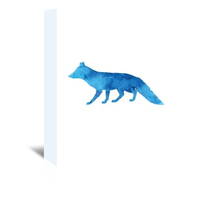 Americanflat 'Watercolourlue Fox' by Jetty Printables Graphic Art Wrapped on Canvas