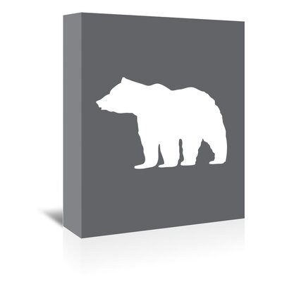 Americanflat 'Grey White Bear' by Jetty Printables Graphic Art Wrapped on Canvas
