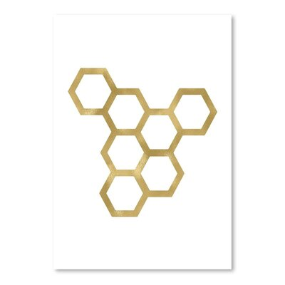 Americanflat 'Honeycomb Modern' by Amy Brinkman Graphic Art