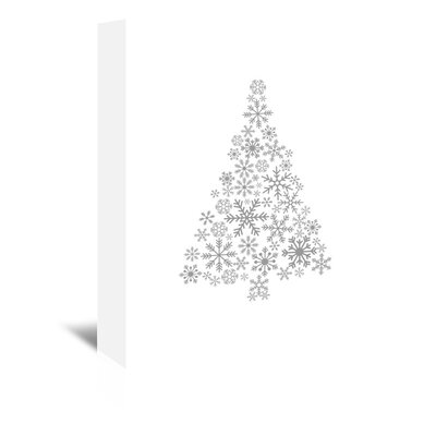 Americanflat 'Grey Snowflake Tree' by Jetty Printables Graphic Art Wrapped on Canvas