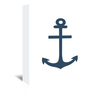 Americanflat 'Anchor' by Jetty Printables Graphic Art Wrapped on Canvas in White