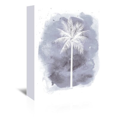 Americanflat 'Watercolour Palm' by Jetty Printables Graphic Art Wrapped on Canvas