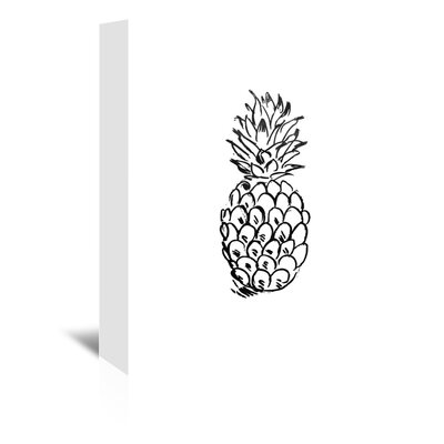 Americanflat 'Faded Black Pineapple' by Jetty Printables Graphic Art Wrapped on Canvas
