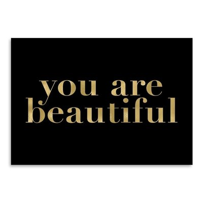 Americanflat 'You Are Beautiful' by Amy Brinkman Typography in Black