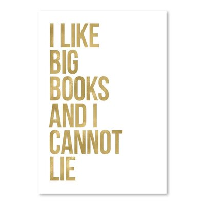 Americanflat 'I Like Big Books' by Amy Brinkman Typography