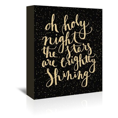 Americanflat 'Holy Nigh' by Jetty Printables Typography Wrapped on Canvas
