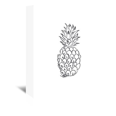 Americanflat 'Grey Pineapple' by Jetty Printables Graphic Art Wrapped on Canvas