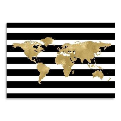 Americanflat 'World Map Stripe' by Amy Brinkman Graphic Art