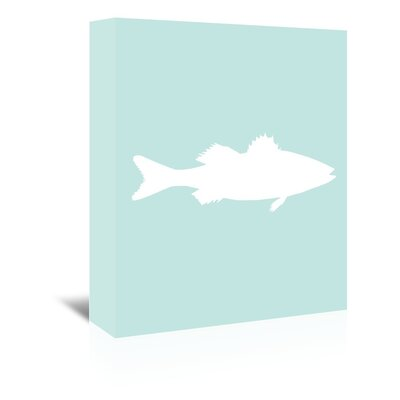 Americanflat 'Sea Bass' by Jetty Printables Graphic Art Wrapped on Canvas
