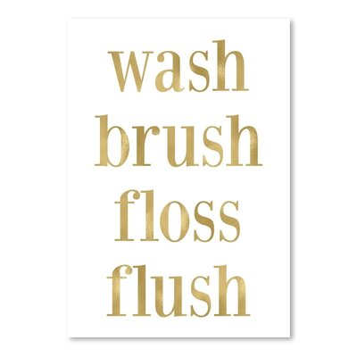 Americanflat 'Wash Brush Floss' by Amy Brinkman Typography