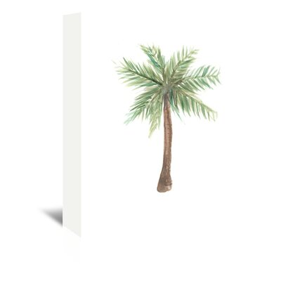 Americanflat 'Watercolour Palm Tree' by Jetty Printables Art Print Wrapped on Canvas