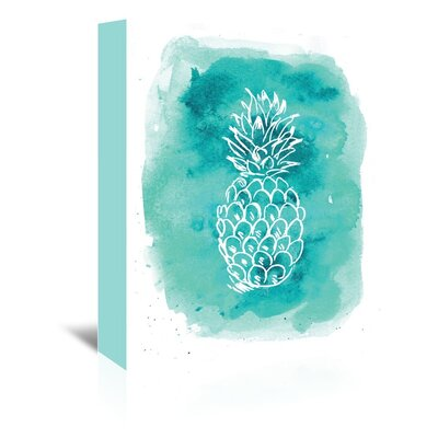 Americanflat 'Watercolour Pineapple' by Jetty Printables Graphic Art Wrapped on Canvas