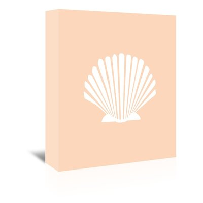 Americanflat 'Peach Shell' by Jetty Printables Graphic Art Wrapped on Canvas