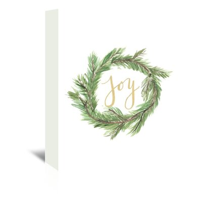 Americanflat 'Wreath Jo' by Jetty Printables Typography Wrapped on Canvas