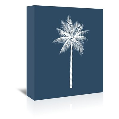 Americanflat 'Navy Palm' by Jetty Printables Graphic Art Wrapped on Canvas