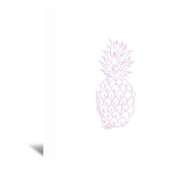 Americanflat 'Lavender Pineapple' by Jetty Printables Graphic Art Wrapped on Canvas