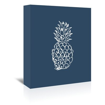 Americanflat 'Pineapple' by Jetty Printables Graphic Art Wrapped on Canvas in Blue
