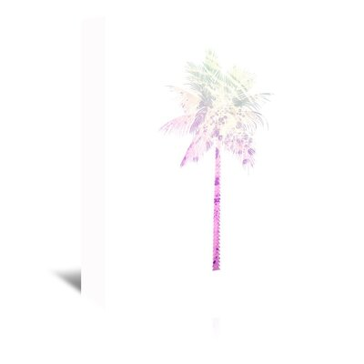 Americanflat 'Psychedelic Pink Palm' by Jetty Printables Graphic Art Wrapped on Canvas