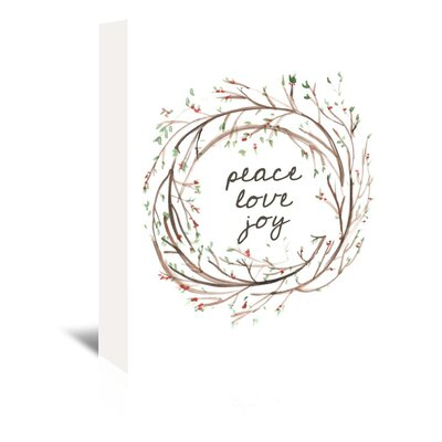 Americanflat 'Peace Love Joy' by Jetty Printables Graphic Art Wrapped on Canvas