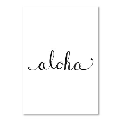 Americanflat 'Aloha' by Jetty Printables Typography