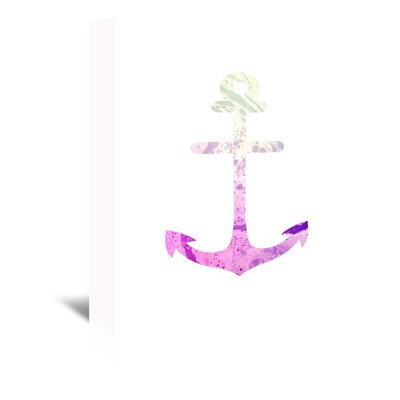 Americanflat 'Psychedelic Pink Anchor' by Jetty Printables Graphic Art Wrapped on Canvas