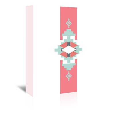 Americanflat 'Coral Mint Southwestern Vertical' by Jetty Printables Graphic Art Wrapped on Canvas