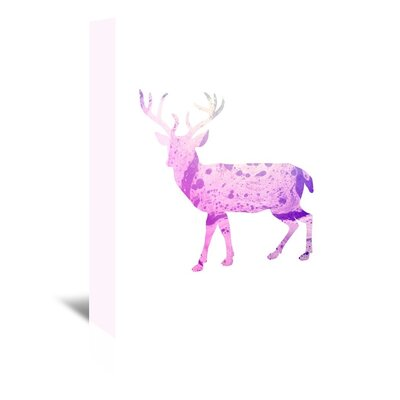 Americanflat 'Deer Body' by Jetty Printables Graphic Art Wrapped on Canvas in Pink