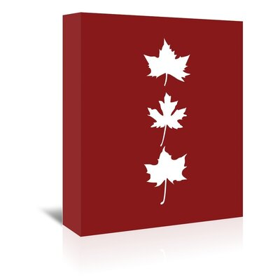 Americanflat 'Red Leaves' by Jetty Printables Graphic Art Wrapped on Canvas