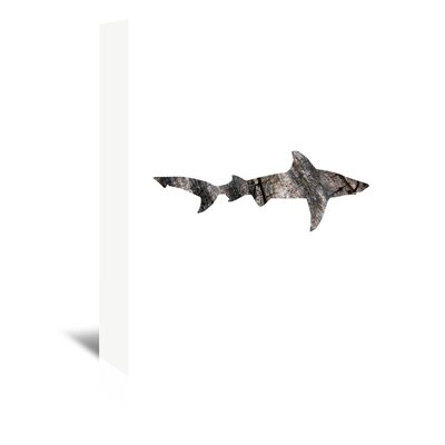 Americanflat 'Wood Grain Shark' by Jetty Printables Graphic Art Wrapped on Canvas