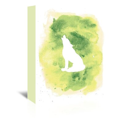 Americanflat 'Watercolour Wolf' by Jetty Printables Graphic Art Wrapped on Canvas