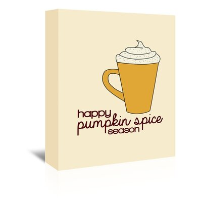 Americanflat 'Pumpkin Spice' by Jetty Printables Graphic Art Wrapped on Canvas