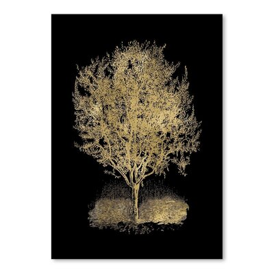 Americanflat 'Olive Tree' by Amy Brinkman Graphic Art in Black
