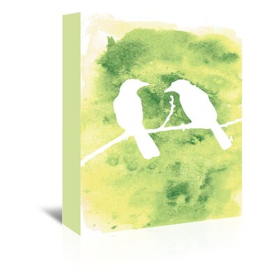 Americanflat 'Watercolour Birds' by Jetty Printables Graphic Art Wrapped on Canvas