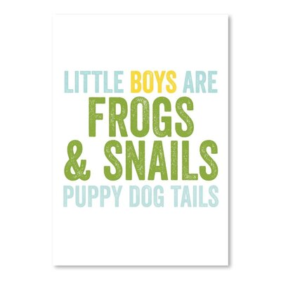Americanflat 'Little Boys Are' by Amy Brinkman Typography