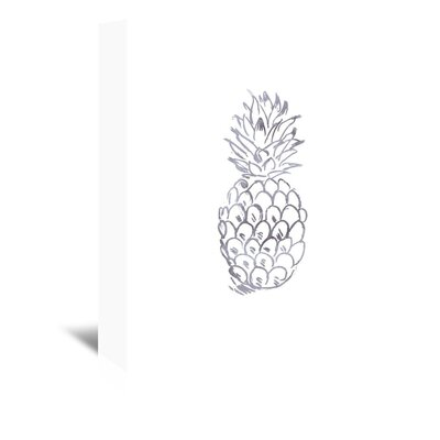 Americanflat 'Watercolour Grey Pineapple' by Jetty Printables Graphic Art Wrapped on Canvas