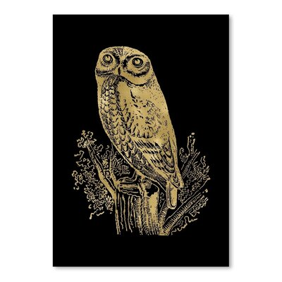 Americanflat 'Owl Rock' by Amy Brinkman Graphic Art in Black