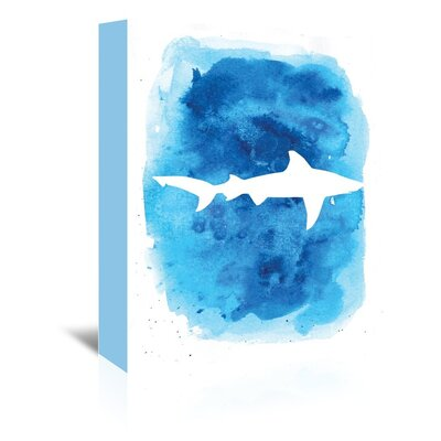 Americanflat 'Watercolour Shark' by Jetty Printables Graphic Art Wrapped on Canvas
