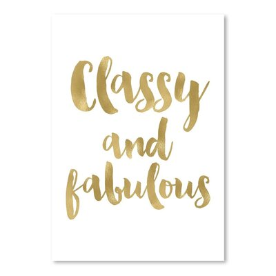 Americanflat 'Classy Fabulous' by Amy Brinkman Typography