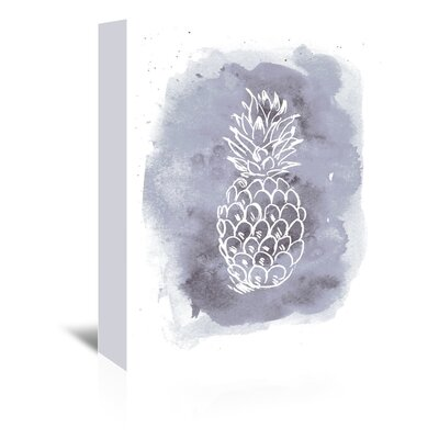 Americanflat 'Watercolour Background Pineapple' by Jetty Printables Graphic Art Wrapped on Canvas