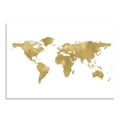 Americanflat 'World Map' by Amy Brinkman Graphic Art