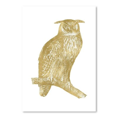 Americanflat 'Owl Great Horned' by Amy Brinkman Graphic Art