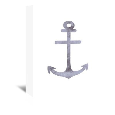 Americanflat 'Watercolour Grey Anchor' by Jetty Printables Graphic Art Wrapped on Canvas