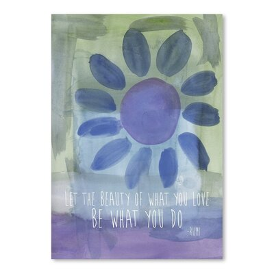 Americanflat 'Rumi Watercoloureauty Of Love' by Amy Brinkman Graphic Art