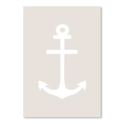 Americanflat 'Anchor' by Jetty Printables Graphic Art in Beige