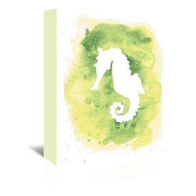 Americanflat 'Background Seahorse' by Jetty Printables Graphic Art Wrapped on Canvas