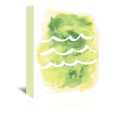 Americanflat 'Watercolour Waves' by Jetty Printables Graphic Art Wrapped on Canvas