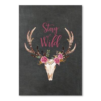 Americanflat 'Stay Wild Skull Chilkboard' by Amy Brinkman Graphic Art