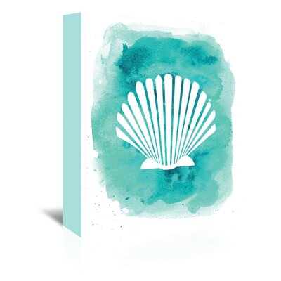 Americanflat 'Watercolour B Shell' by Jetty Printables Graphic Art Wrapped on Canvas